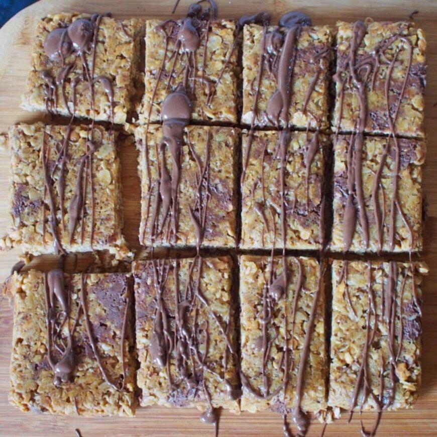 Peanut Butter Breakfast Bars or Flapjacks