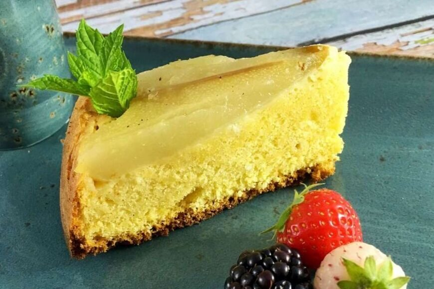 Reduced Calorie Pear and Almond Sponge