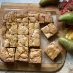 Pear and Salted Caramel Blondies