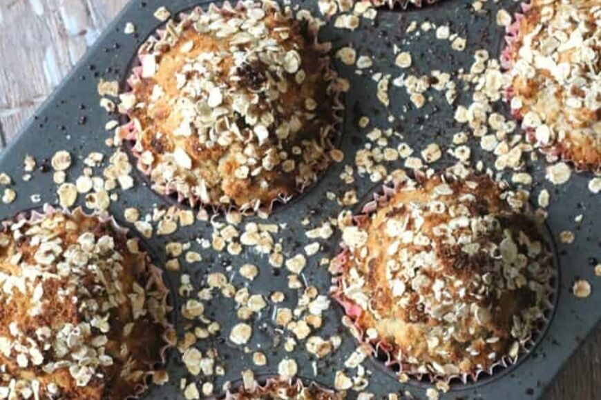 Spiced Pear Breakfast Muffins
