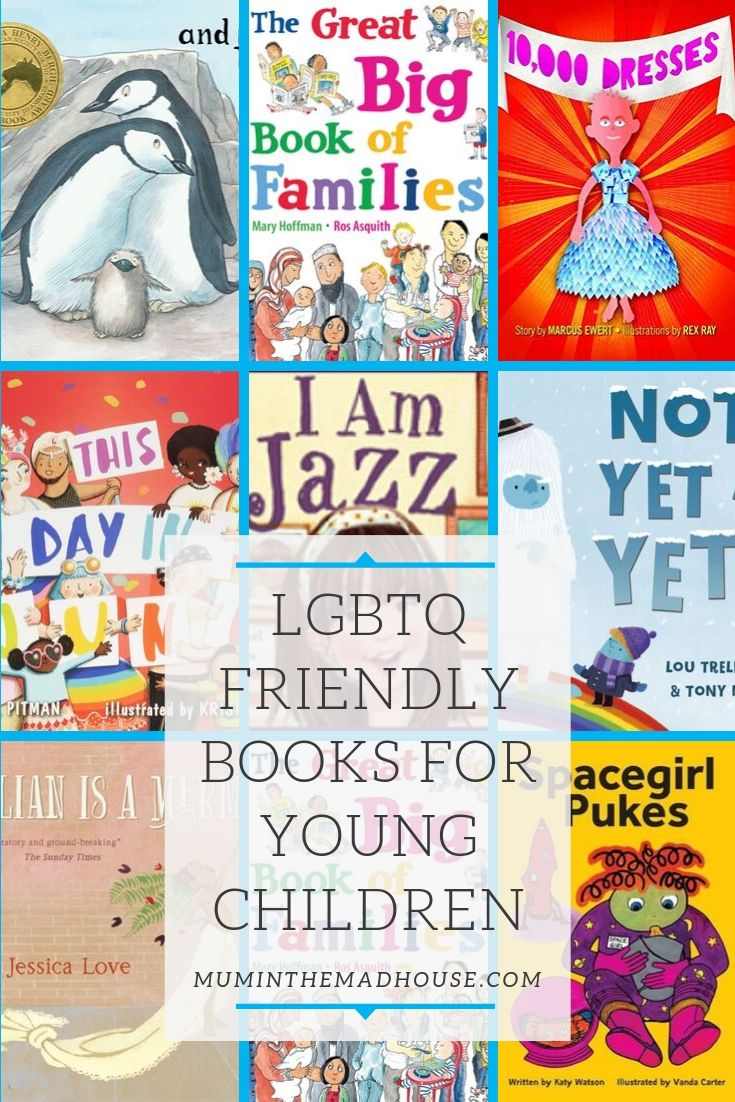 A Fabulous selection of diverse LGBTQ-friendly books for young children to help teach children about inclusivity and acceptance.
