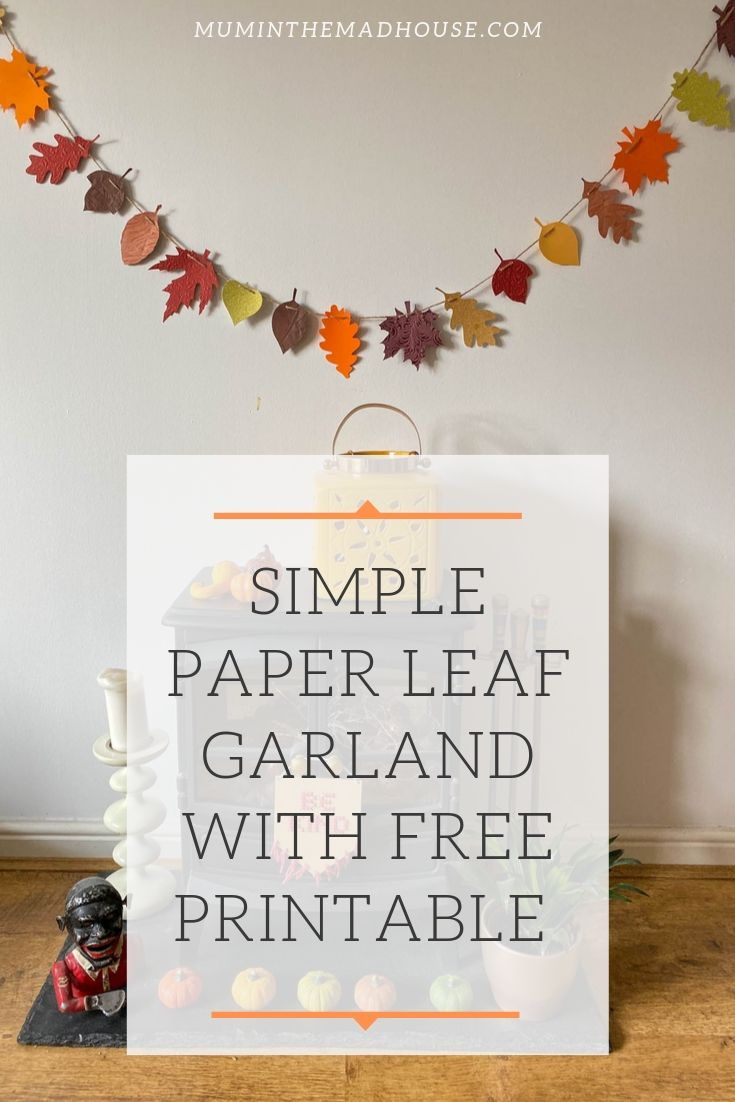 Make a beautiful seasonal paper leaf garland perfect for Autumn with our free leaf printable and instructions.