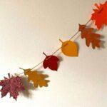 Simple Paper Leaf Garland with Free Printable Leaves