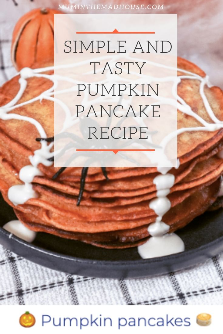 This Simple and Tasty Pumpkin Pancake Recipe is a perfect Halloween low sugar treat a clever way to get some veg into your kids without compromising on taste.