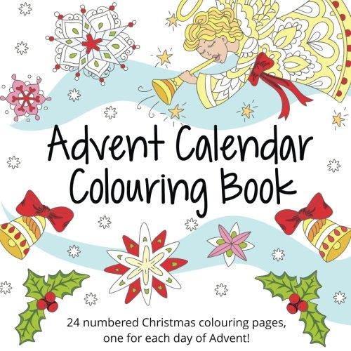 Advent Calendar Paper Colouring Book for Older Children