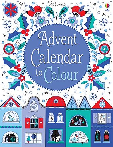 Paper Advent Calendar to Colour