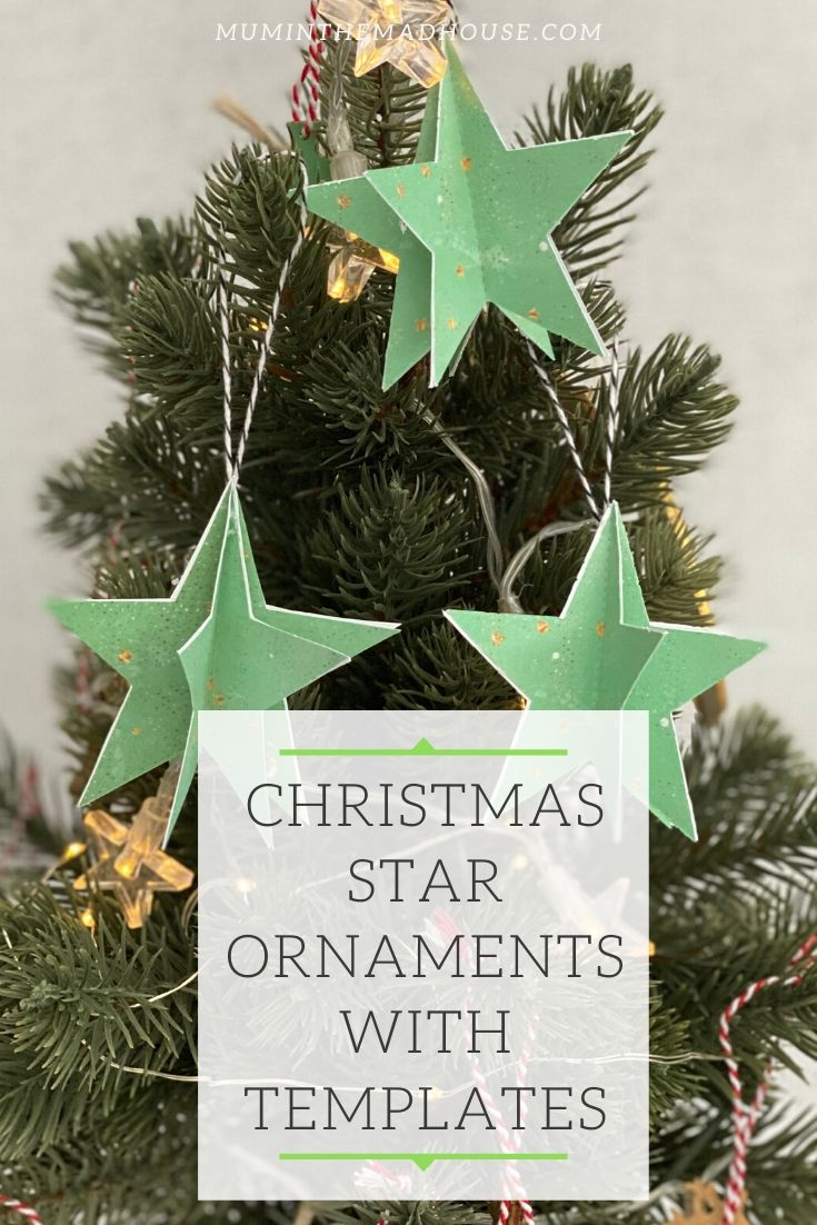 Free Printable Christmas Star Ornaments With Templates Mum