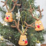 DIY Mini Plant Pot Reindeer Ornaments