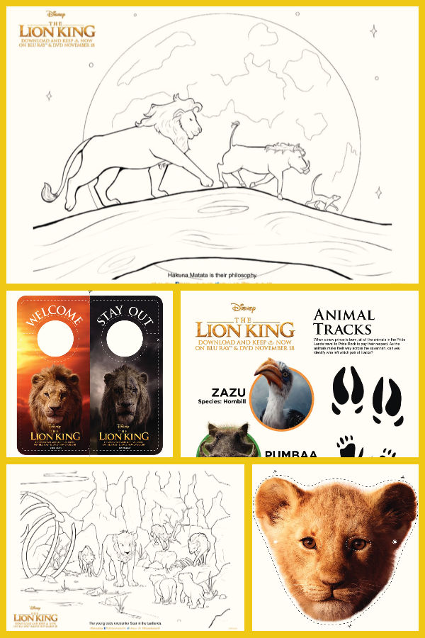 Enjoy these Lion King activity sheets for children, including Lion King puzzles, a Lion King maze, colouring sheets, door hangers and a delightful mask of Simba to print, cut out and play with. All in all 12 fabulous fun activity sheets to enjoy.