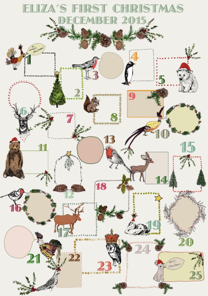 personalised Keepsake Advent Calendar