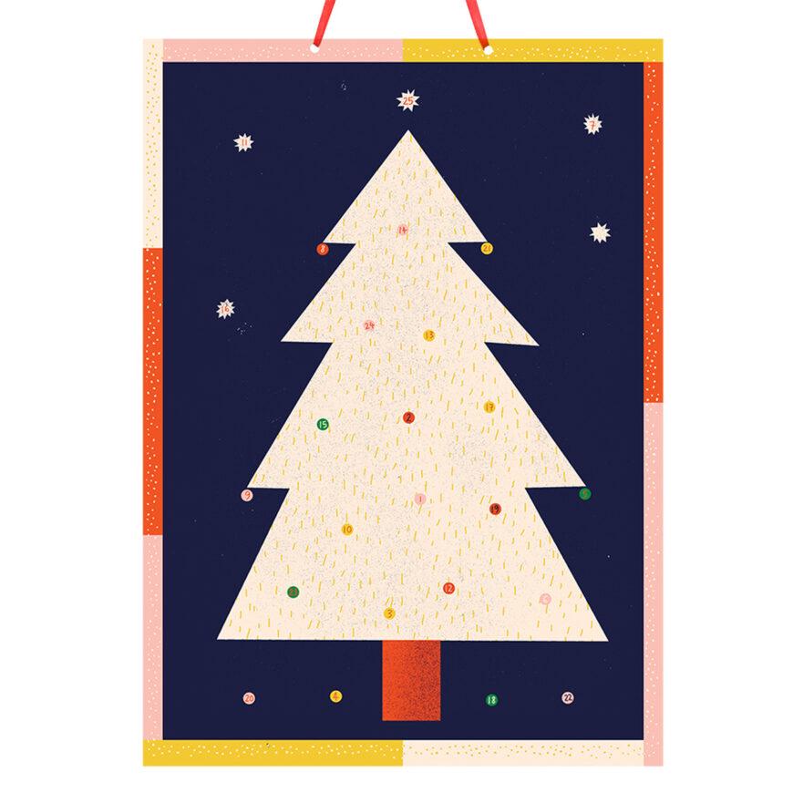 Christmas Tree Paper Advent Calendar