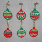 Washi Tape Christmas Baubles with Free Printable
