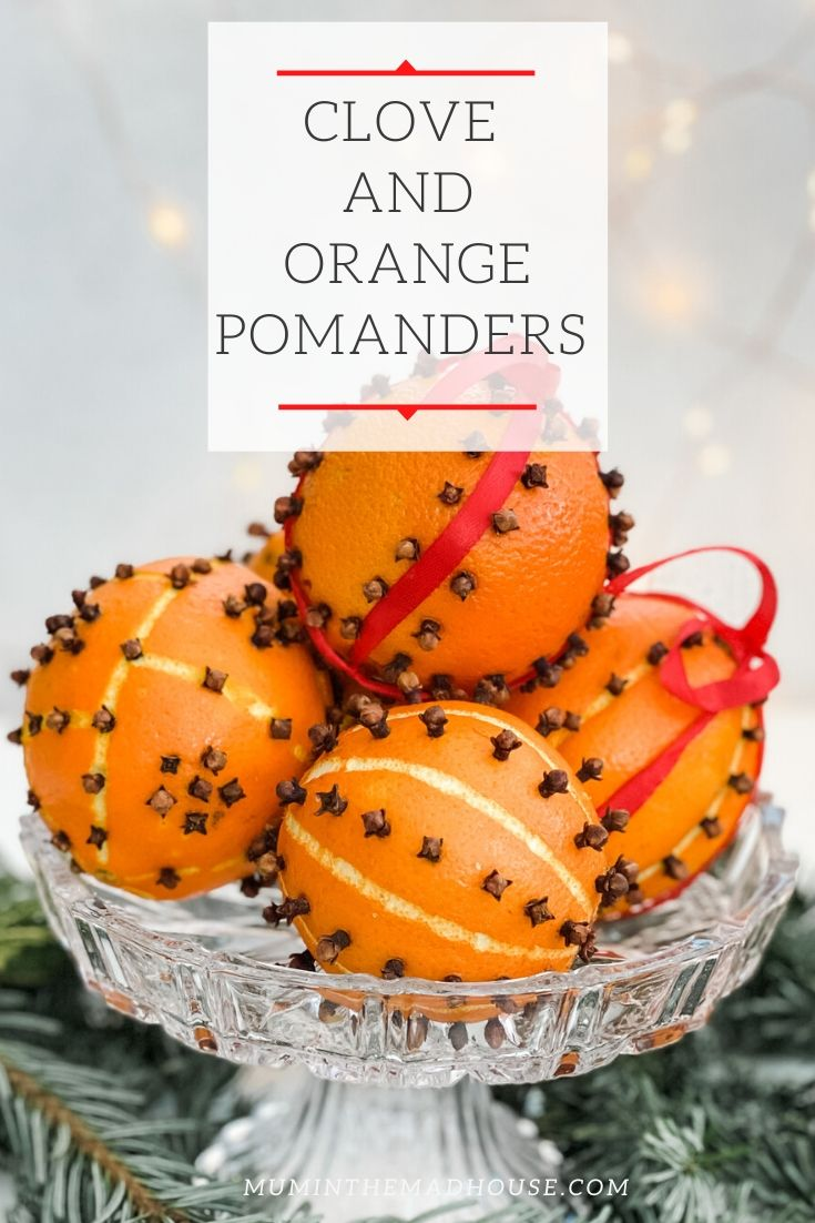 How to make clove and orange pomanders that last with our simple step by step tutorial #DIY Christmas