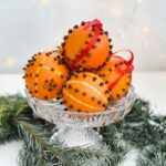 Clove and Orange Pomanders perfect for Christmas