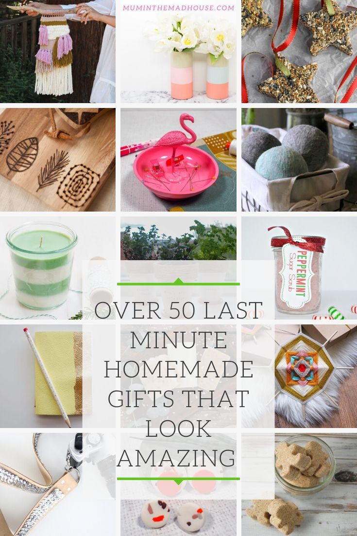 Don't worry if you need a gift at the last minute, we have you covered with over 50 last-minute homemade gifts perfect for Christmas and all year round.