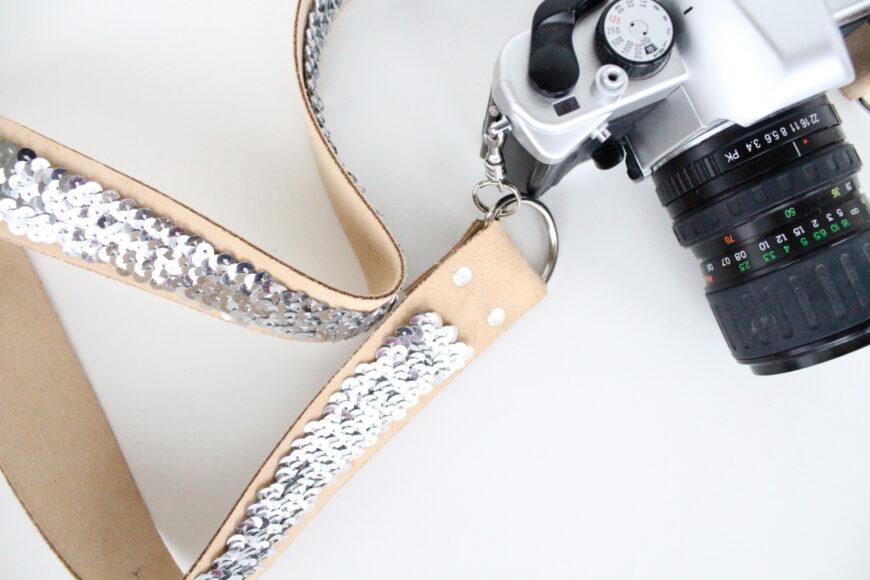 Now sew camera strap