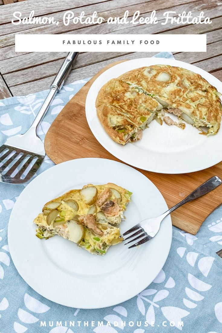 We love Frittata or crustless quiche as some people call them.  This Wild Alaska Salmon, Potato and Leek Frittata is great as a breakfast or main meal and also good for a picnic or packed lunches cold.