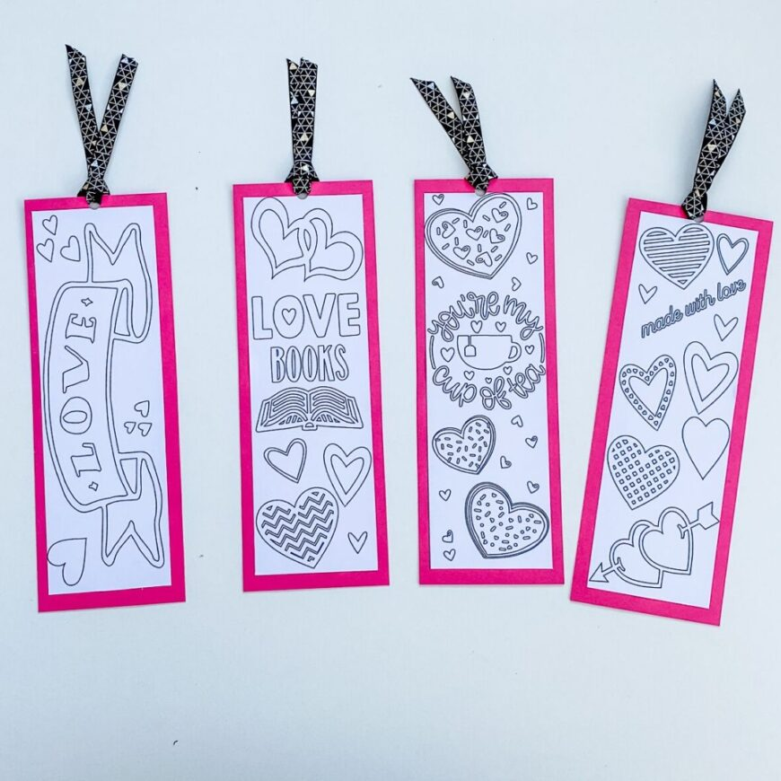 It is a photo of Printable Valentines Bookmarks with free printable