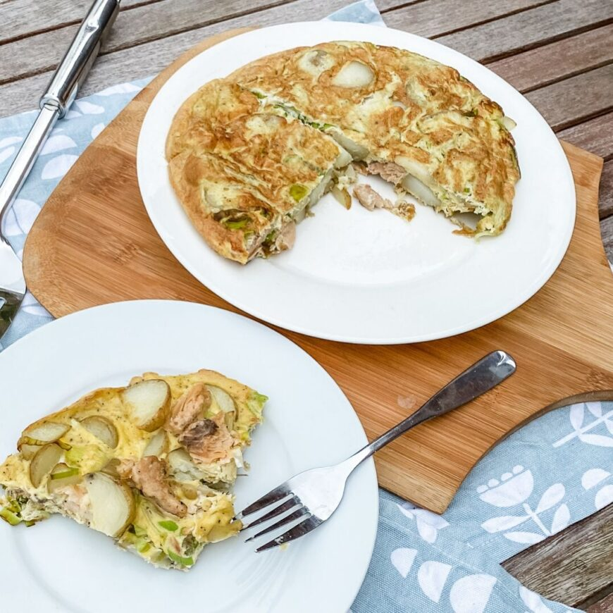 Wild Alaska Salmon, Potato and Leek Frittata