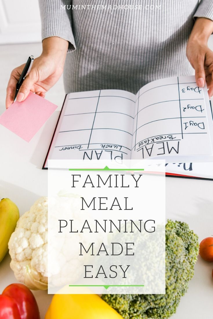 Family meal planning made simple. How to save time, money and food waste.