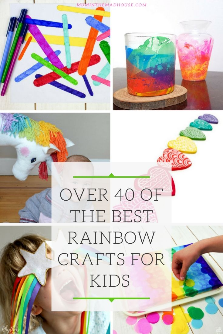 I have to admit, I am a sucker for rainbow crafts and activities. I am not a muted palate girl at all and the colours of the rainbow really do sing out to me. So I have gathered together some of my favourite rainbow crafts and activities for kids of all ages to share with you. In fact, I have gathered together what I think are over 40 of the best rainbow crafts for kids on the web below:
