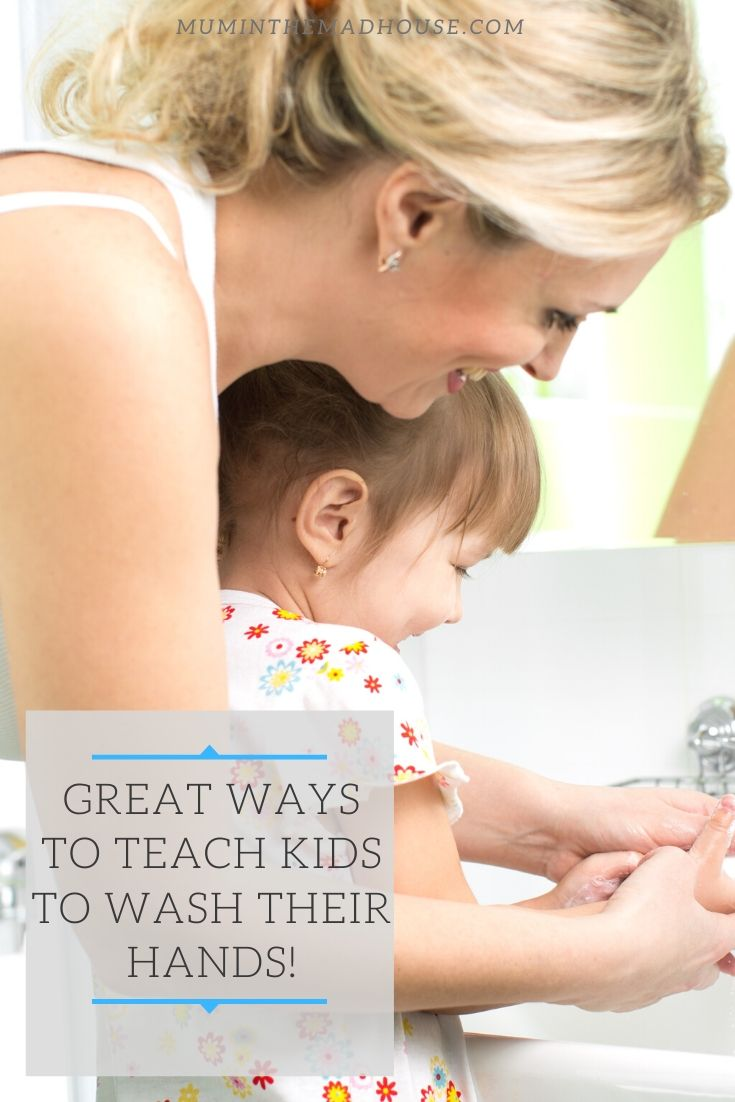 Fun ways to help your kids learn about washing their hands, helping them understand about the spread of germs and to keep on top of handwashing