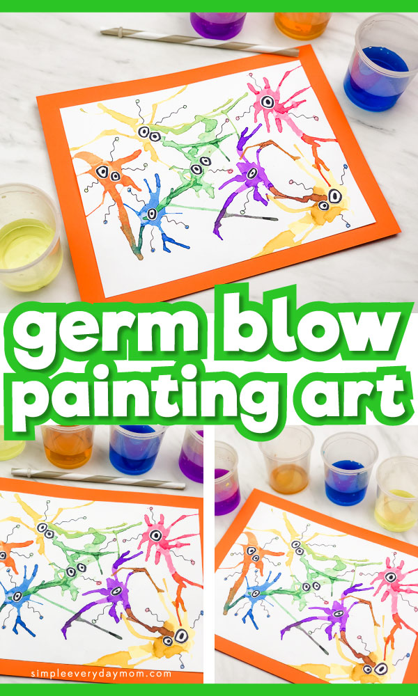 Create your own germs with this fun process art