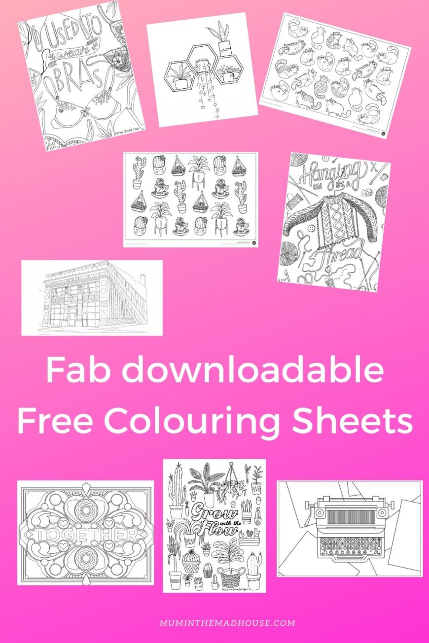 Have some colouring fun with these free fab adult and teen colouring pages