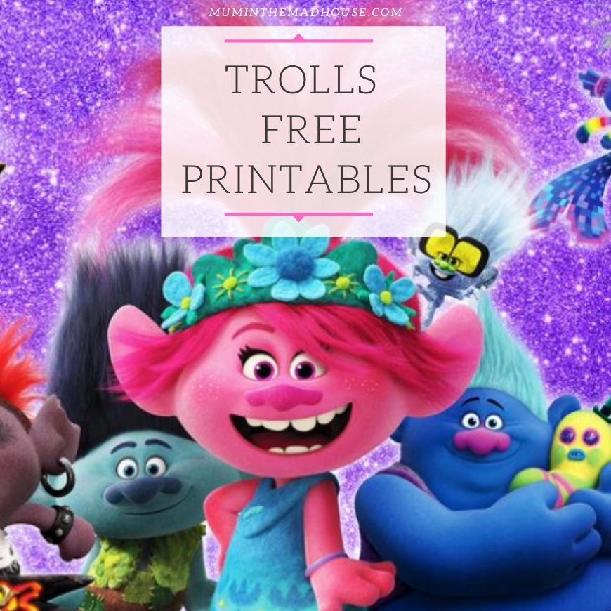 Trolls Activity Sheets – Free Printables