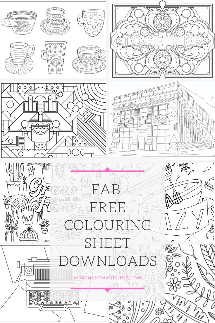 Colouring is a great way to destress and we have Fab Downloadable Free Colouring Sheets for adults and teens.