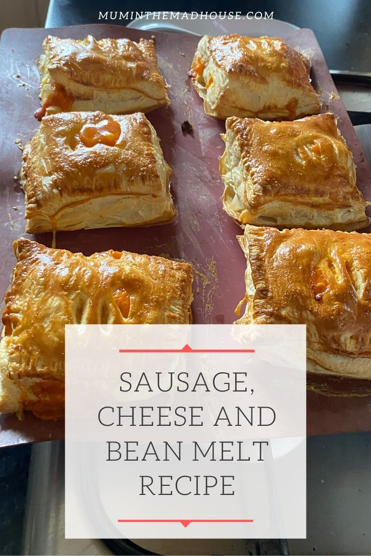 This Sausage, Cheese and Bean Melt Recipe is perfect for anyone that loves Greggs and is simple to make and perfect for cooking at home.