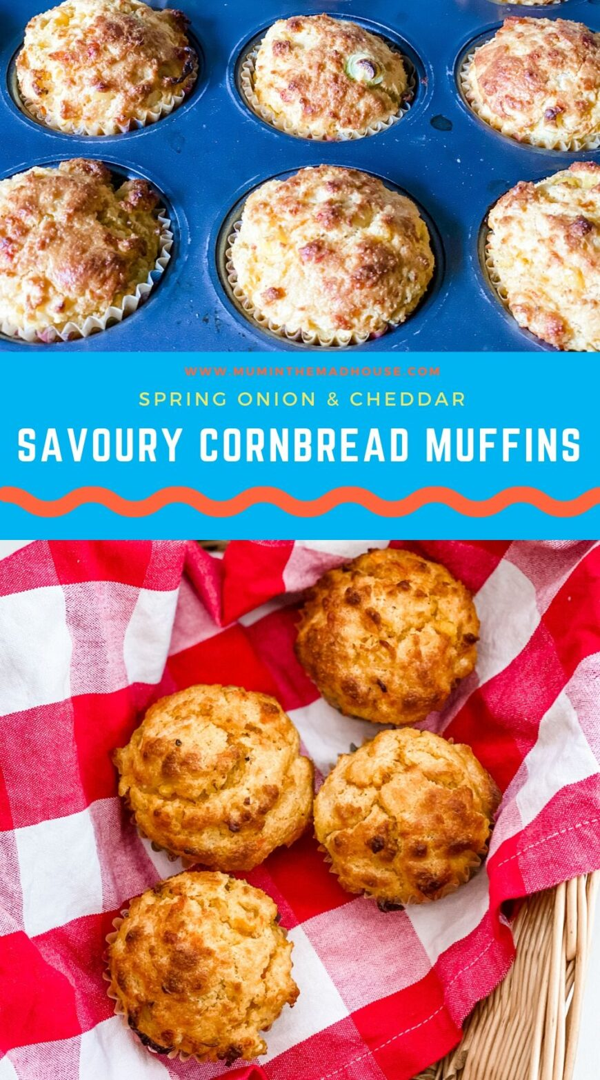 Savoury Cornbread Muffins are the perfect side dish for chilli or even breakfast.  Simple to make, but a real game changer