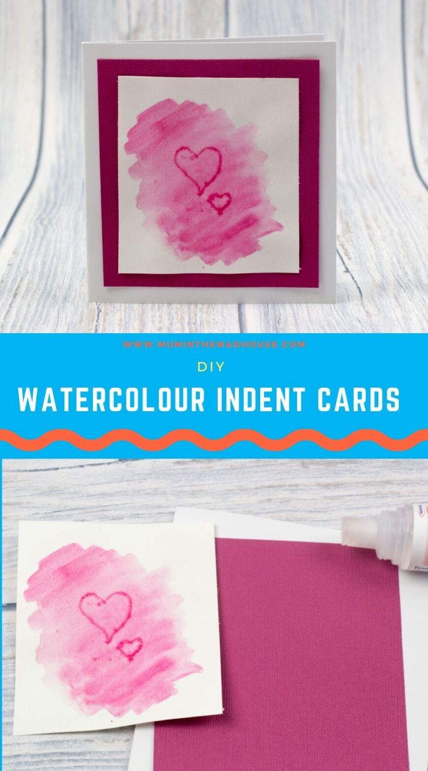 Making watercolor brush indent cards is so fun to do.