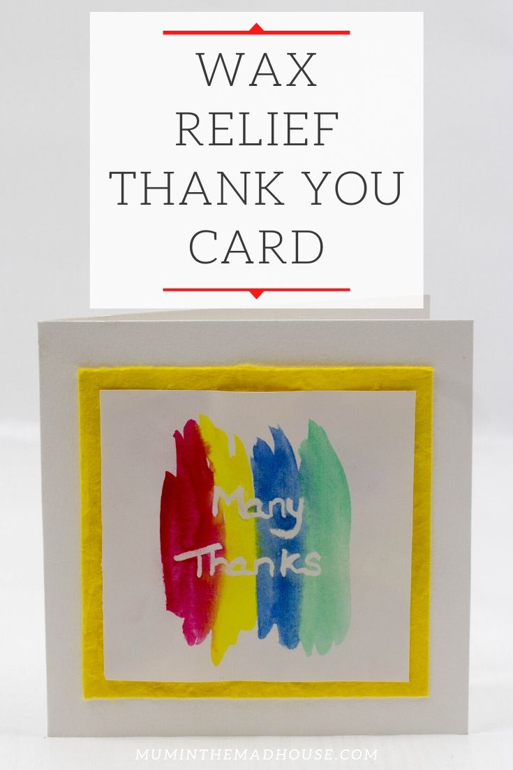Wax Relief Thank You Card