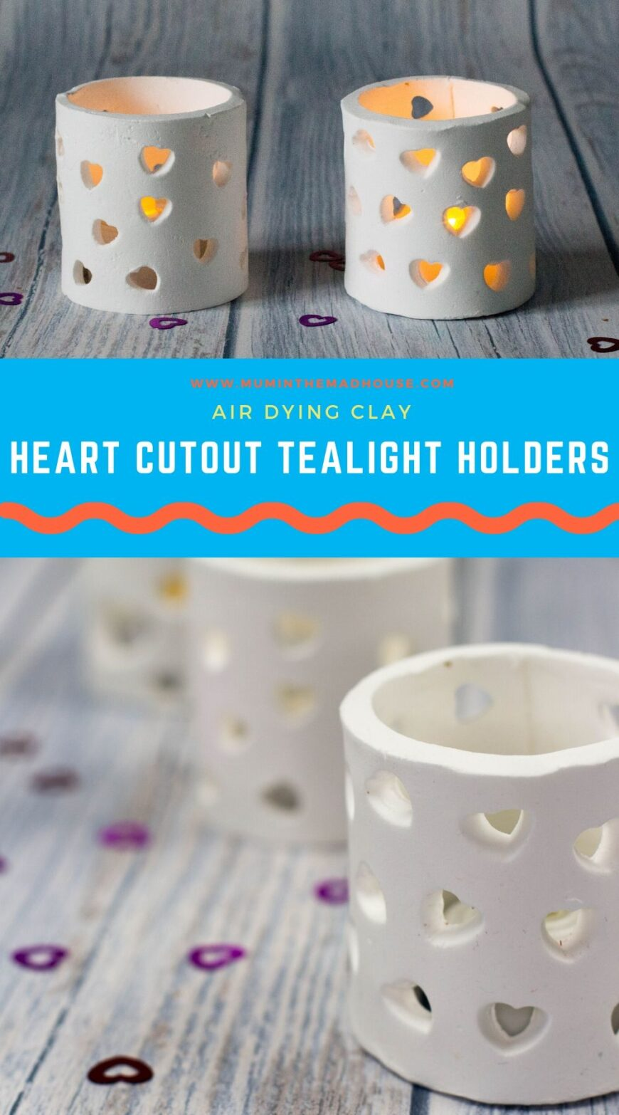 How to make clay tealight holders