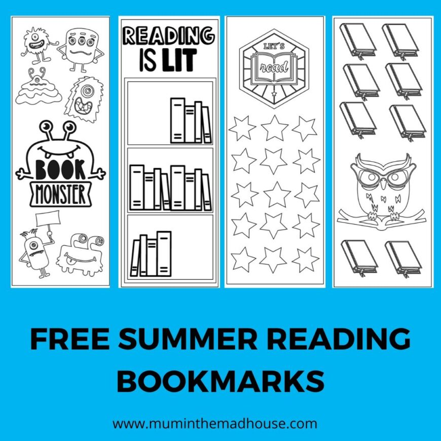 Free Summer Reading Bookmarks Printable
