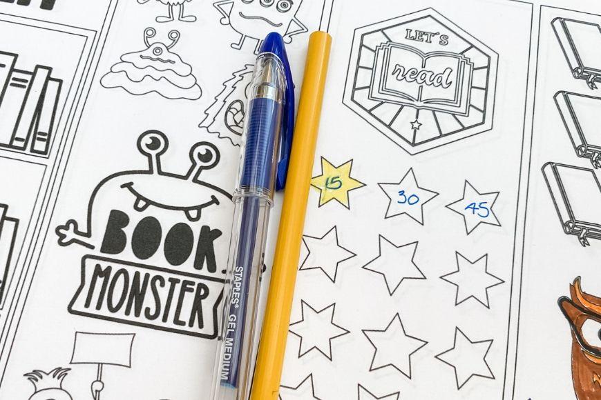 Book Monster Bookmark