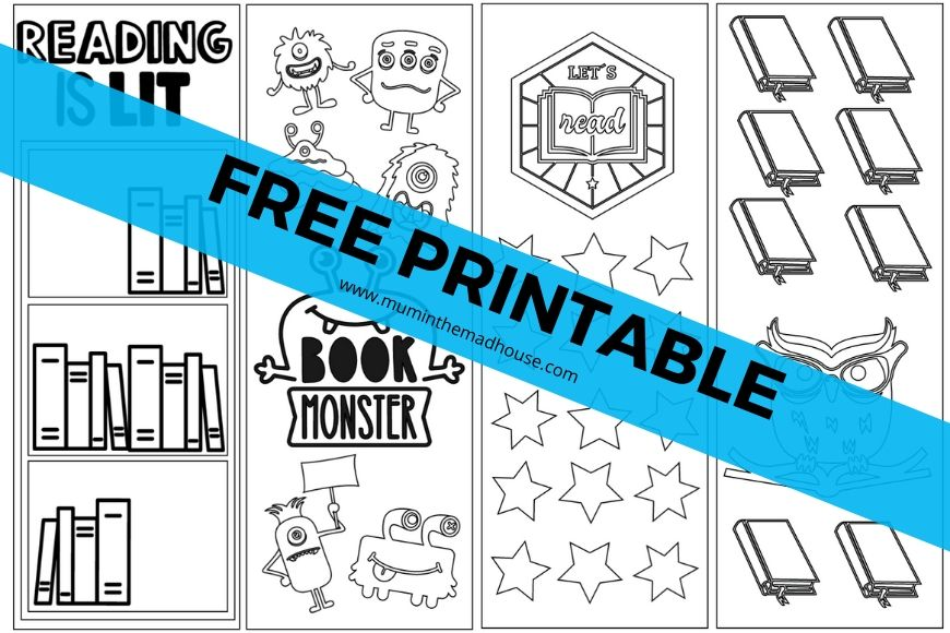 Free Summer Reading Bookmarks Printable download