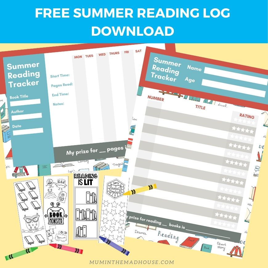 Free Summer Reading Log Printable - Mum In The Madhouse