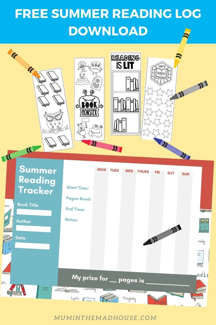 This printable reading log includes: date, title, time spent reading along with a book time spent tracker too. A reading log is a great way to help children develop a life-long habit and is one of the best summer activities to sharpen developing brains. Click here to download the free reading log printable