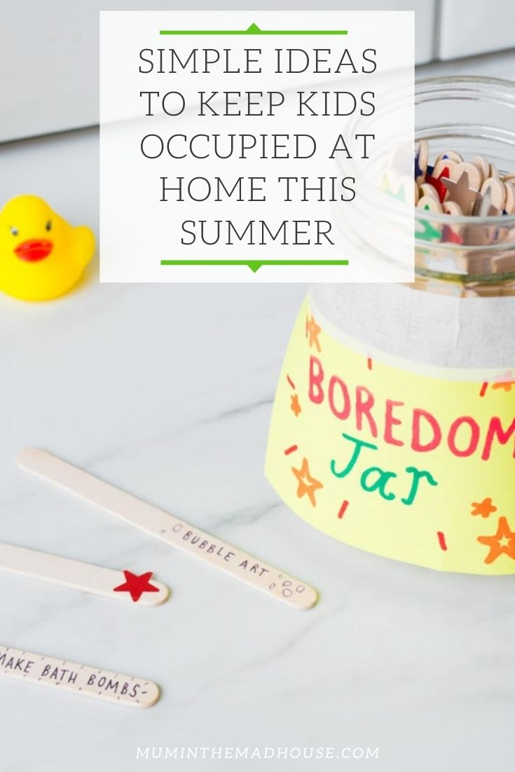 Simple Ideas to Keep Kids Occupied at Home This Summer