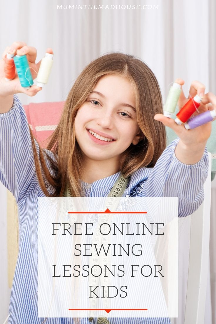 Here's a great opportunity to have your kids learn to sew with these sewing lessons for kids that are online and free. The lessons are clearly set out with really simple, video instructions from a tutor experienced in teaching children.