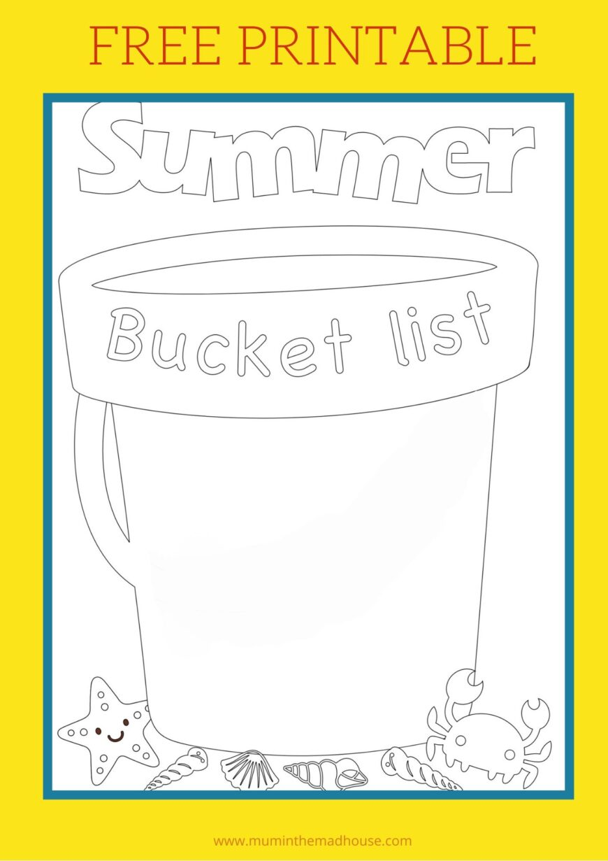 Free Summer Bucket List Template Mum In The Madhouse
