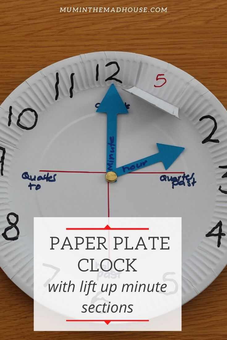 This simple paper plate clock craft for kids helps them learn numbers and tell the time! It requires very little materials and is quick to make!