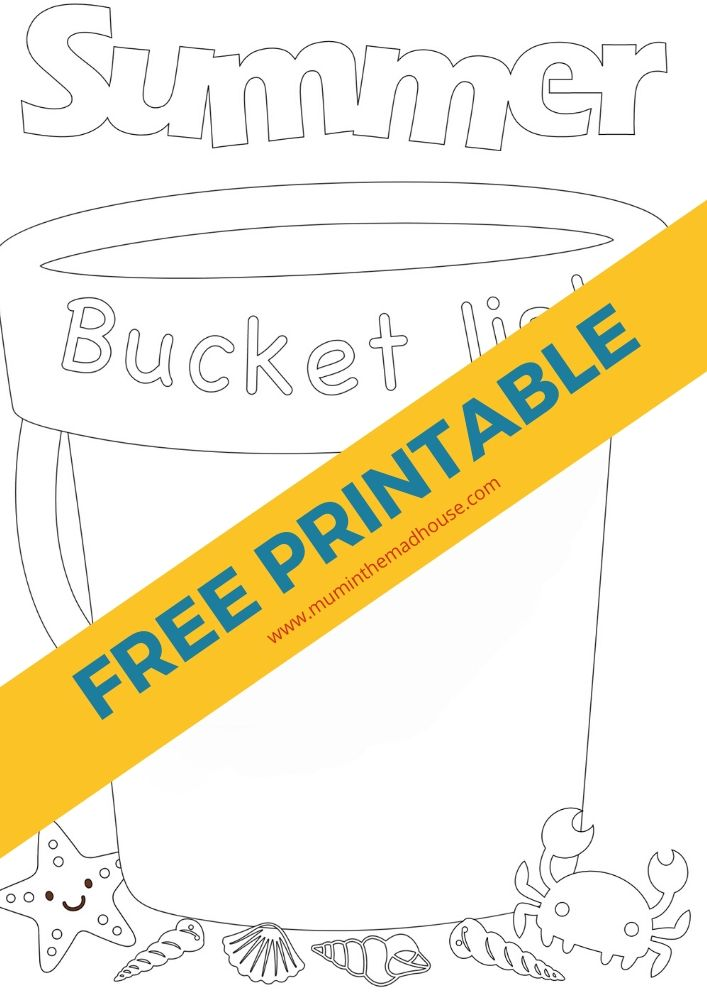 Make the most of this coming summer with the kids with this fab blank free summer bucket list template to print and fill in.