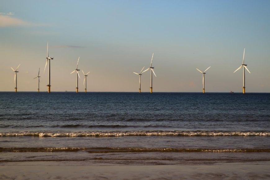 Best Beaches in North Yorkshire - Coatham windfarm