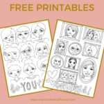 Adult Colouring Sheets - Faces Free Printable