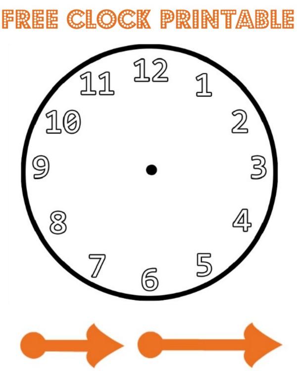 Free clock printable