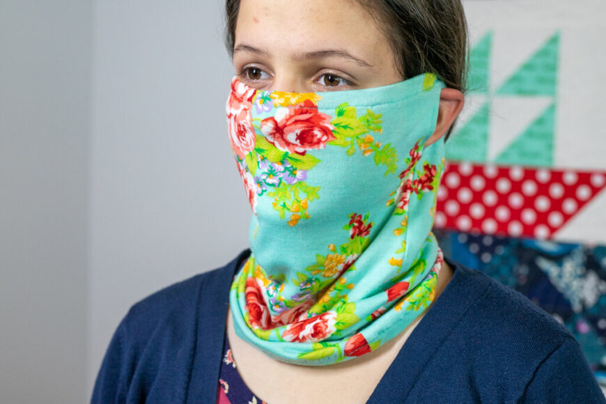 Scarf Style Mask with Filter Option pattern
