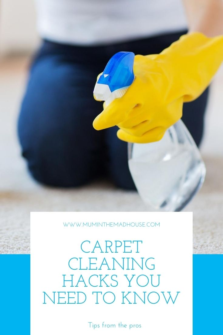 How to clean carpets & rugs like a pro! Learn the right way to vacuum, deep clean, stain removal tips, and more! #cleaning #cleaningtips #cleaningtricks #carpetcleaning